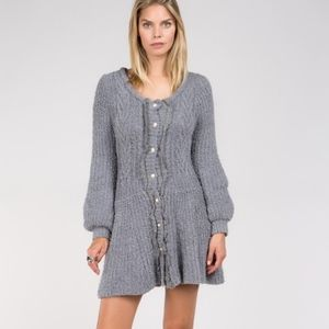 🆕 Grey Berber Fleece Long Sleeve Dress
